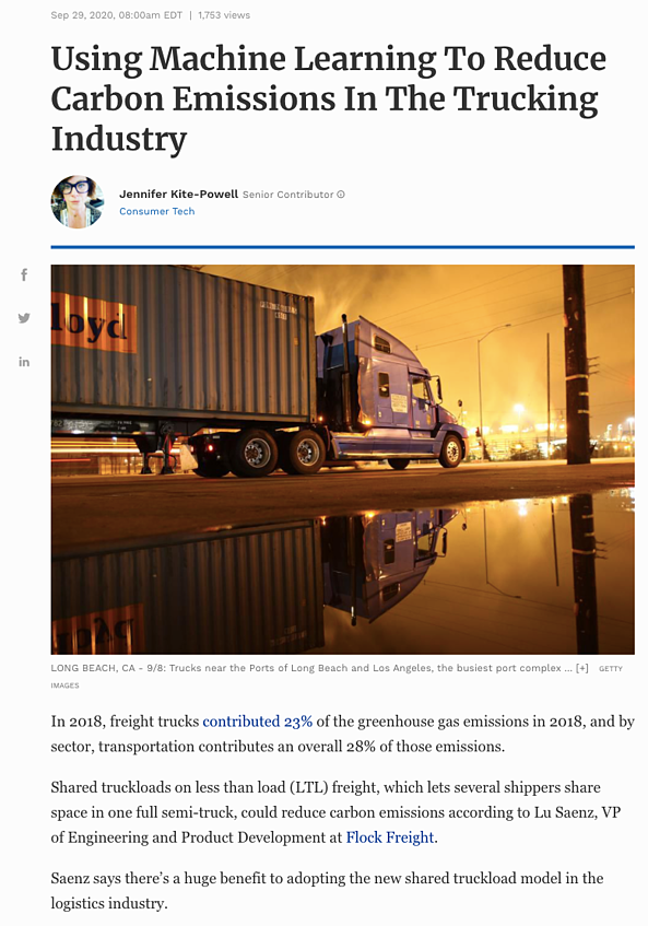 Flock Freight Forbes article