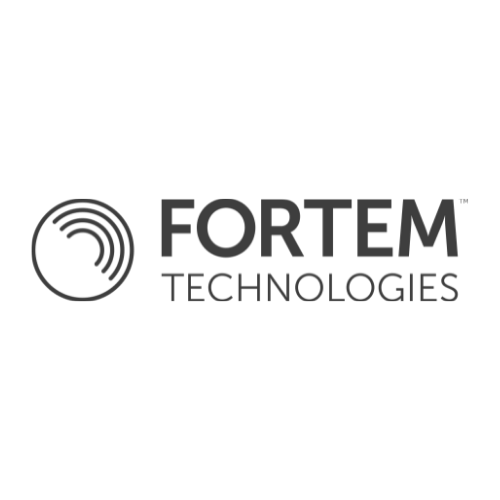 Fortem Technologies greyscale logo