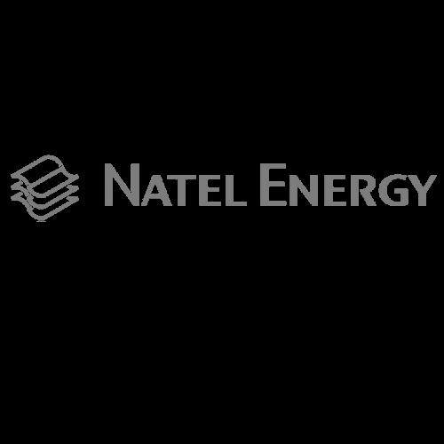 Natel Energy greyscale logo
